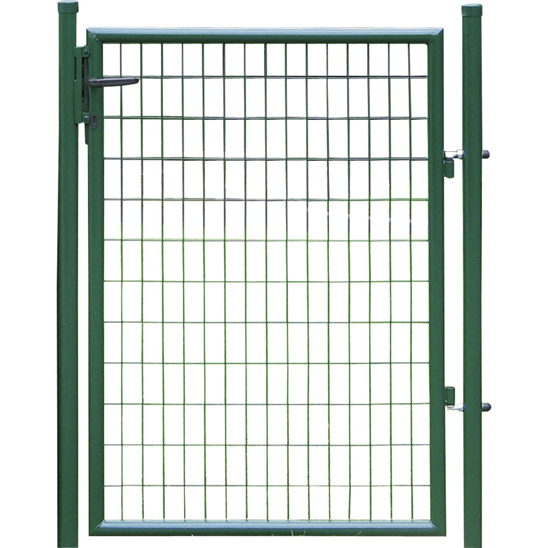 Portillon grillag gris 1m25 en 100x50mm jardinprixbas com for Portillon en fer pas cher
